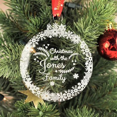 Personalised Christmas Bauble Engraved Tree Decoration Gift  - Family Bauble