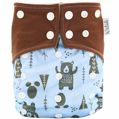 Forest Bears Design Bamboo Charcoal Cloth Nappy