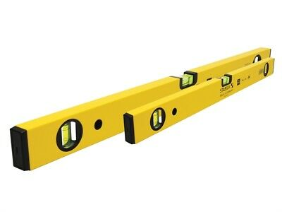 Stabila 18998 70-2 Double Plumb Spirit Level Twin Pack 60cm & 120cm STB702PACK
