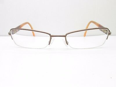 60e174af687 Christian Dior CD3690 EYEGLASSES FRAMES 51-18-135 Brown Half Rimless TV6  35012