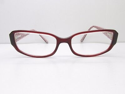 7c9d326f636 Coach Desiree 538 EYEGLASSES FRAMES 53-16-135 Burgundy Rectangle TV6 34984