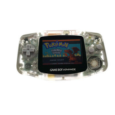 Transparent White GBA Game Boy Advance Console AGS-101 Brighter Backlight Screen