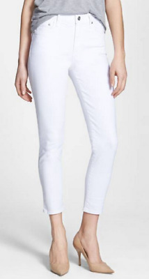 Citizens of Humanity Rocket Crop High Rise Skinny Jeans,Optic White,Size 26,$178