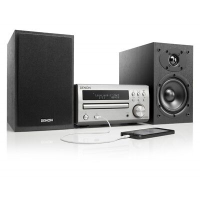 Denon Micro Hi-Fi DAB System CD Receiver System with Black Speakers