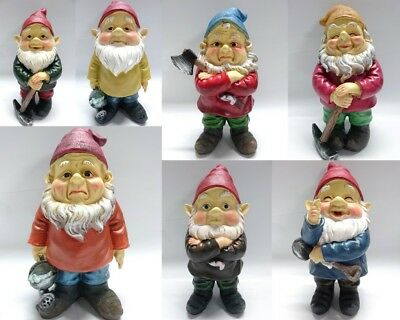 26cm Funny Garden Gnomes Naugthy Ornament Figurine Indoor Outdoor Garden Decor