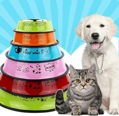 Berry-Pet Non-Slip Stainless Steel Pet Dog Bowl Puppy Cat Food Drink Water Dish
