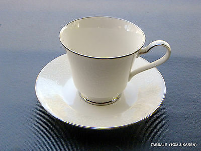 """NORITAKE Ivory china AFFECTION pattern ~ FOOTED CUP & 6"""" SAUCER SET"""