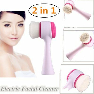 2 in 1Message Facial Cleansing Brush  Non-electric Home Beauty Instrument I5