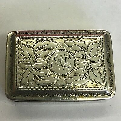 Lovely Antique William IV Solid Silver Vinaigrette By Edward Smith Grill Missing
