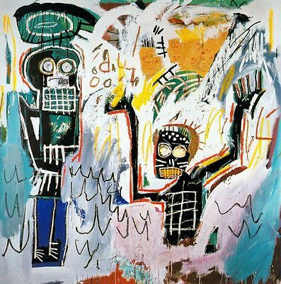 """Jean-Michel Basquiat """"Baptism"""" Oil Painting on Canvas Huge Wall Picture 24x24"""""""