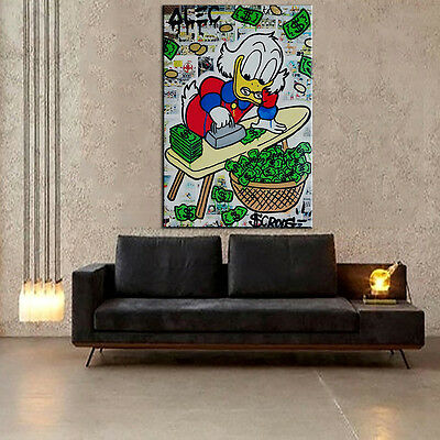 """Alec Monopoly """"Ironing Board"""" Oil Painting on Canvas Large Wall Picture 36x24"""""""