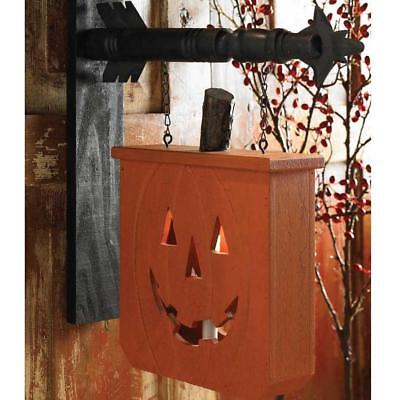 Country Primitive Pumpkin with Candle Holder Arrow Replacement Sign