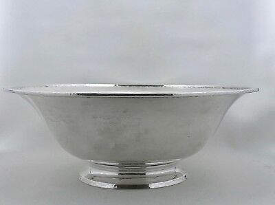 Antique Gorham, Arts & Crafts Hand Hammered Sterling Silver Footed Bowl 1916