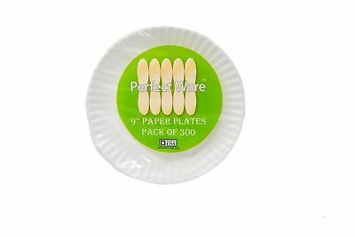 """Perfect Stix Paper Plate 9-300 Paper Plates White 9"""" (Pack of 300)"""