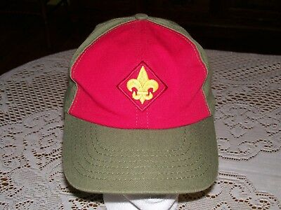 Vintage BSA Boy Scouts Snapback Adjustable Baseball Hat Twill Cap S/M Made USA
