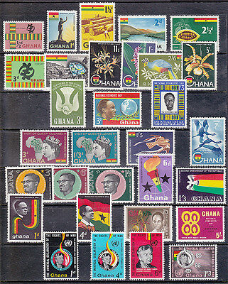 Ghana - Mixed lot of stamps MH