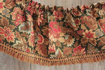 Antique French valance ruffle c1880 Arts and Crafts design 19th century