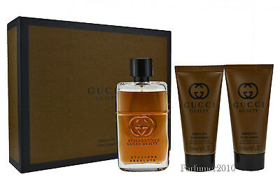 Gucci Guilty Absolute pour Homme 50ml EDP & 50ml After Shave Balm 50ml Duschgel