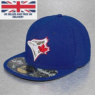 Official Toronto Blue Jays 7 5/8 Fitted Hat Camo MLB New Era 59FIFTY 5950 Cap