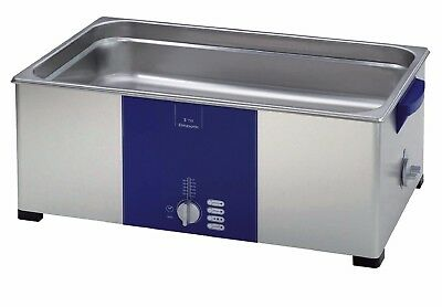 "ELMA S150 3.5 Gal. Ultrasonic Cleaner, 37kHz, 19.9"" x 11.8"" x 3.9"", 103162"