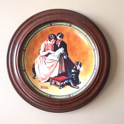 Norman Rockwell Limited Ed Plate American Dream Series Couple's Commitment 1985
