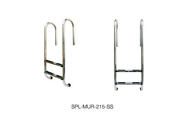 Non-Slip 2 Steps Stainless Steel Swimming Pool Ladder with Lift Up Function