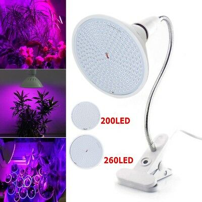 LED plant Grow Light Growing Bulbs Flexible Desk Holder Clip Indoor Hydroponic