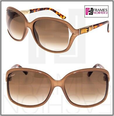 6fdbe74b283 GUCCI Square GG3671S Powder Brown Havana BAMBOO Gradient Sunglasses 3671  3685