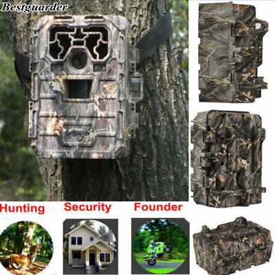 Hunting Camera 12MP 1080P Night Vision IR Game Scouting Trail Security Cam +16GB