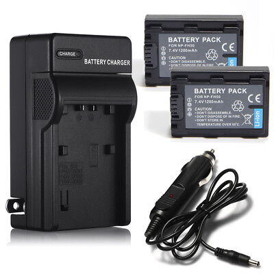 NP-FH50 Battery + Charger For Sony NP-FH40 30 DSC-HX1 HX100V DSLR A230 A330