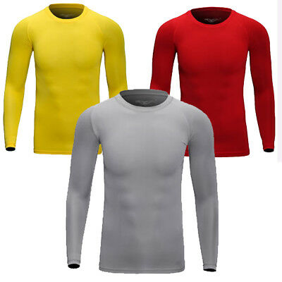 Mens Compression Underwear Under Base Layer Top Tight Long Sleeve T-Shirts
