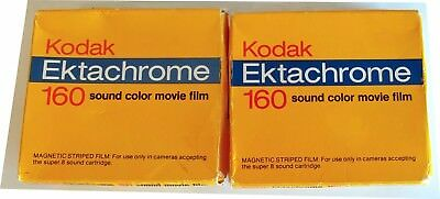 Kodak Ektachrome 160 Type A Super 8 Color Movie Film With Sound X 2