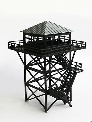 Outland Models Railway Scenery Watchtower / Lookout Tower (Black) HO Scale 1:87