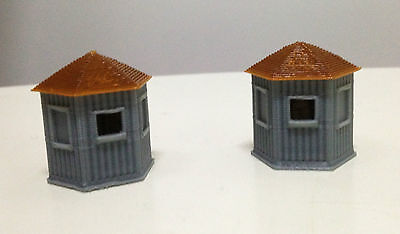 Outland Models Railway Train Station Stand Alone Ticket Booth x2 HO OO Gauge