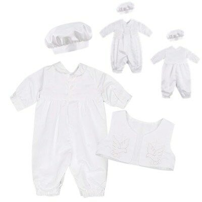 Formal Baby Toddler Baptism Christening Outfits with hat size newborn to 18M