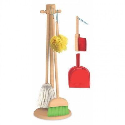 Brand New Melissa & Doug Cleaning Kit With Stand Pretend Play Toy Broom Mop Set