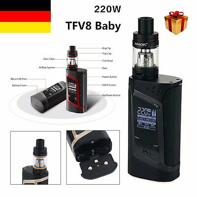 SMOK Alien 220W Full Kit inkl+TFV8 Baby Beast E Shisha Verdampfer BE