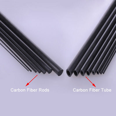 Carbon Fiber Tube & Rods Round For RC Airplane 1.8mm 2mm 3mm 6mm You Pick Sizes