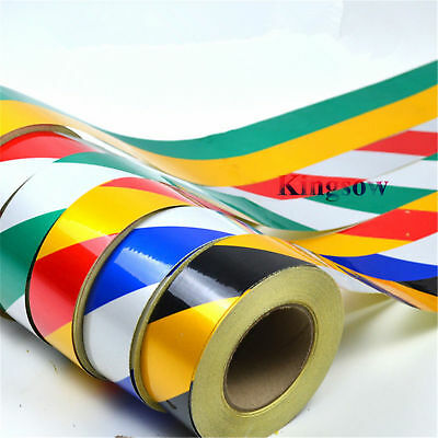 50mm Stripe High Intensity Reflective Tape Vinyl Warning Sticker Self-adhesive