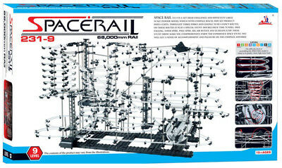 SpaceRail Level 9 231-9 New Super Hard Motorised Marble Run Space Rail