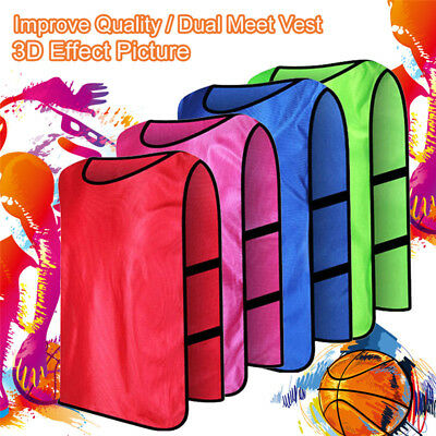 Team Training Scrimmage Vests Basketball Soccer Youth Adult Pinnies Jerseys MN