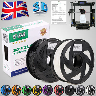 E-DA Premium 3D Printer Filament 1.75mm PLA ABS Various Colours 1KG 3D Makerbot
