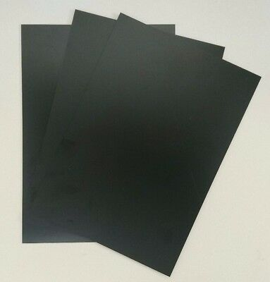 Plasticard High Impact Polystyrene 0.5mm 20 thou Sheet A4 Matt Black Craft Model