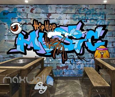 3D Graffiti Hiphop Music Eyeball Chicken Wall Mural Wallpaper Decals Print Decor