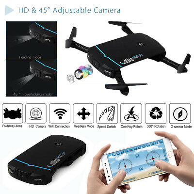 Mini Selfie Drone With 720P HD Camera Wifi FPV App Control RC Quadcopter Toy