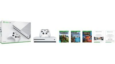 Xbox One S 500GB Console – Minecraft Complete Adventure Bundle