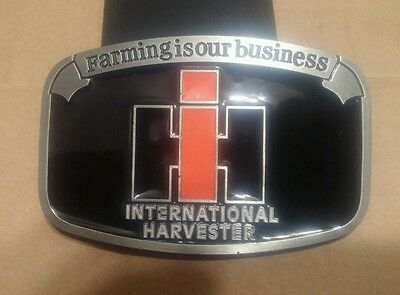 NEW INTERNATIONAL HARVESTER  belt buckle FARMING IS OUR BUSINESS