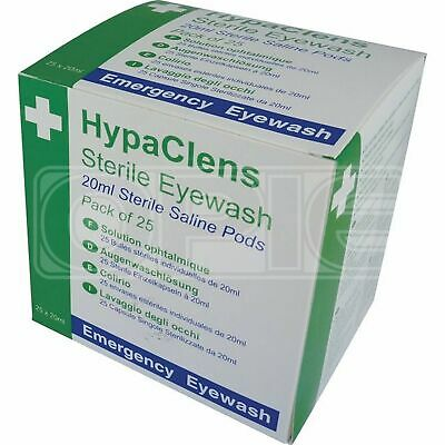 Safety First Aid HypaClens Sterile Eyewash Pods (E401A) - Box (25 x 20ml)