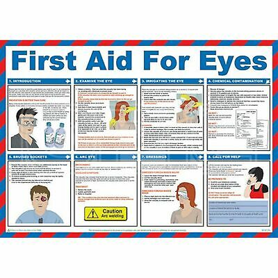 Safety First Aid First Aid For Eyes Poster - 59cm x 42cm (A602T)