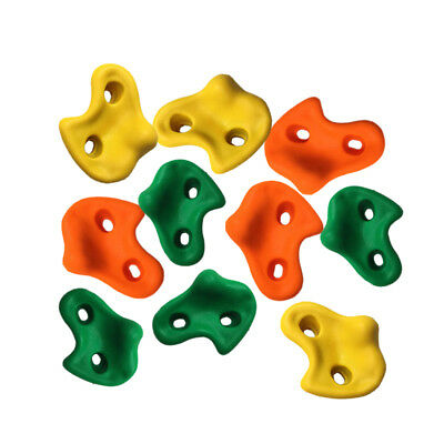 AU 10pcs Indoor Rock Climbing Stones Hand Hold Wall Climb Plastic Kit Kids Toys